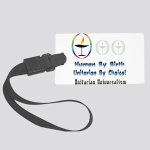UU Unitarian By Choice Large Luggage Tag